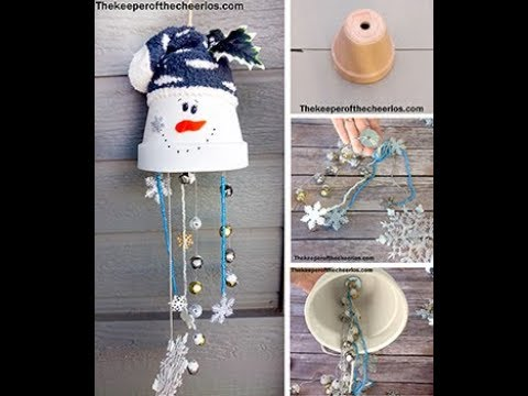 clay pot snowman wind chime youtube