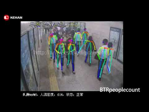 Precise people counting for BTR,E-song Smart AI algorithm Provider