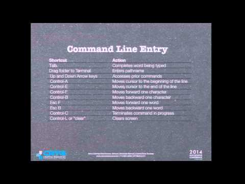 UNIX:  Working the Command Line in OS X
