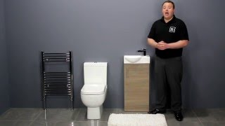 Small Toilet & Oak Vanity Unit Bathroom Furniture for Small Bathrooms