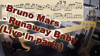 Baixar Bruno Mars - Runaway Baby [LIVE LIFT] - with notation and tabs