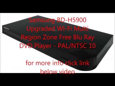 Samsung BD-H5900 Upgraded Wi-Fi Multi Region Zone Free Blu Ray DVD Player
