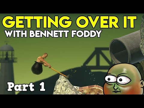 Getting Over It - Part 1 Journey to the Orange