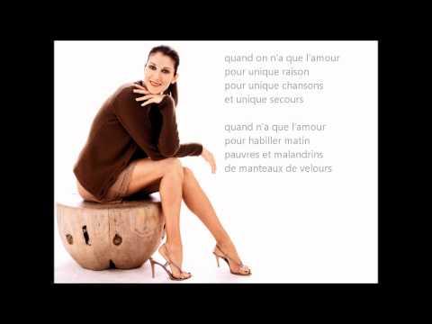 ♫ Quand on n'a que l'amour - Céline Dion [à L'OLYMPIA 1994]