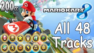 Mario Kart 8 All Tracks 200cc (Full Race Gameplay)