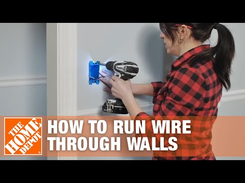 How to Run/Fish Electrical Wire Through Walls & Ceilings | The Home Depot