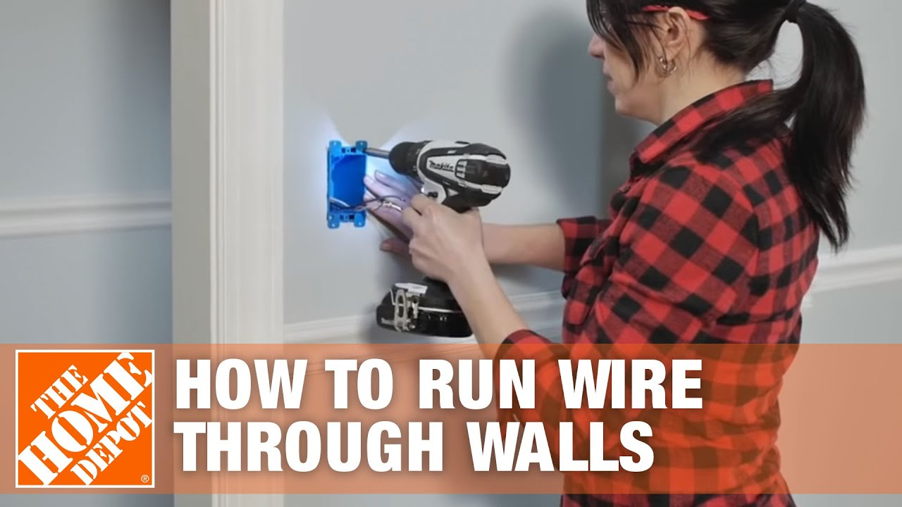 How to Run/Fish Electrical Wire Through Walls & Ceilings - YouTube