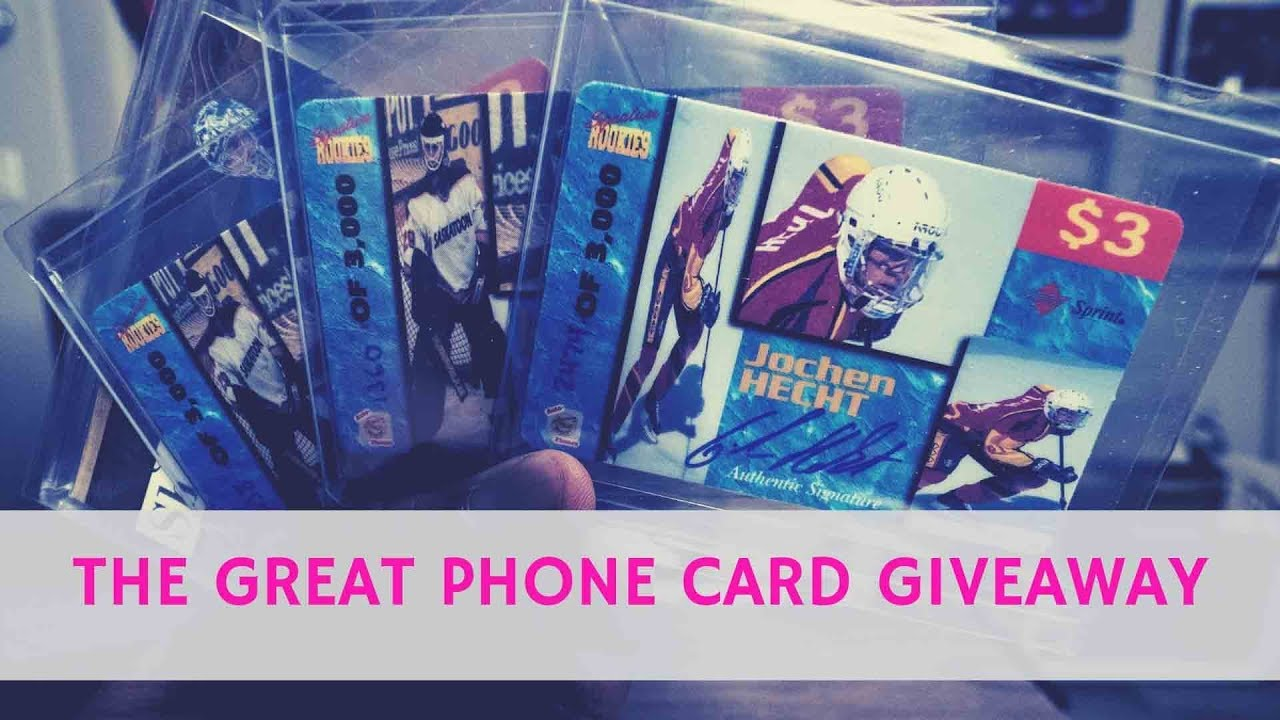 The Great Phone Card Giveaway Baseball Cards In The Mail