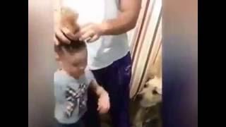 Папа знает как быстро сделать прическу дочке(Подписывайтесь на видео приколы - http://www.youtube.com/channel/UCY1xEmkfd8z4Pk_O_5qSu_g На нашем канале ютуб