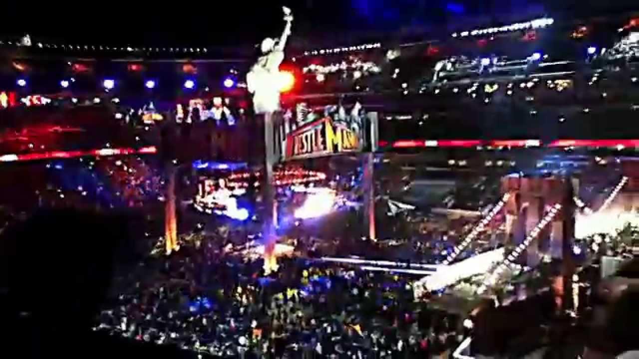 wrestlemania 29 HBK,HHH, and brock lesnar entrance - YouTube