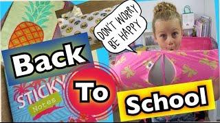 BACK TO SCHOOL HAUL ♥  coole Schulsachen super günstig ♥ coole Mädchen Zöpfe&Frisuren