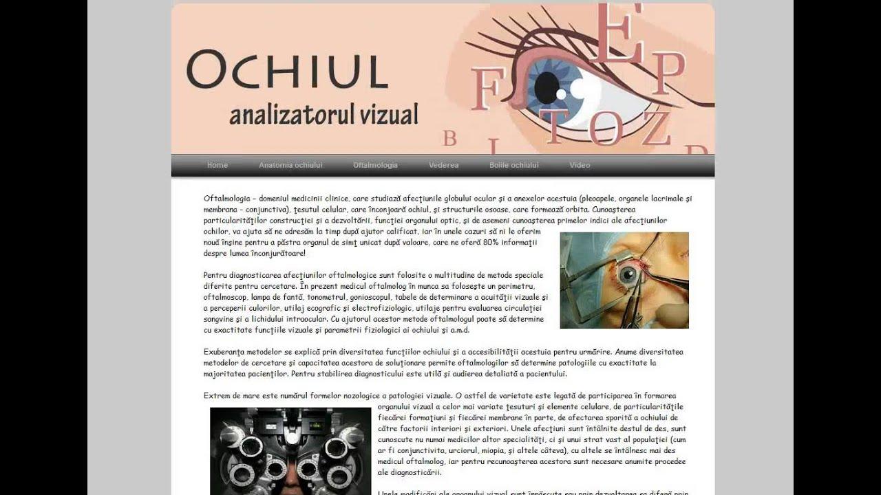 boli care afectează acuitatea vizuală