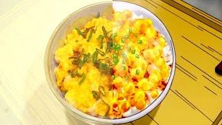 FOOD WARS FOOD Transforming Egg Rice 食戟のソーマ anime food vs real life side by side shokugekinosoma