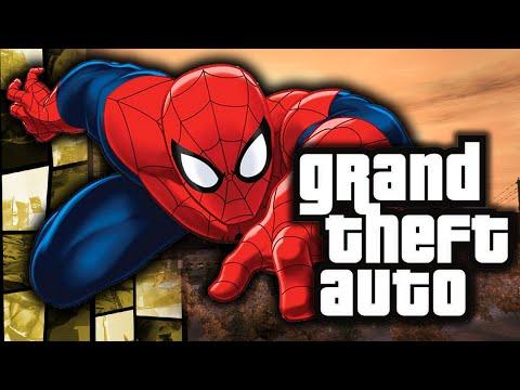 GTA 4: Spiderman in GTA! - (Web Swinging Powers Funny Moments w/ Mods)