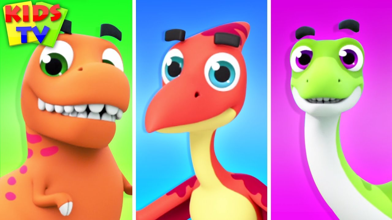 Dinosaur Song   The Supremes   Kids Songs & Cartoon Videos for Babies