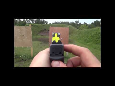 Trijicon hd night sights POV and some shooting