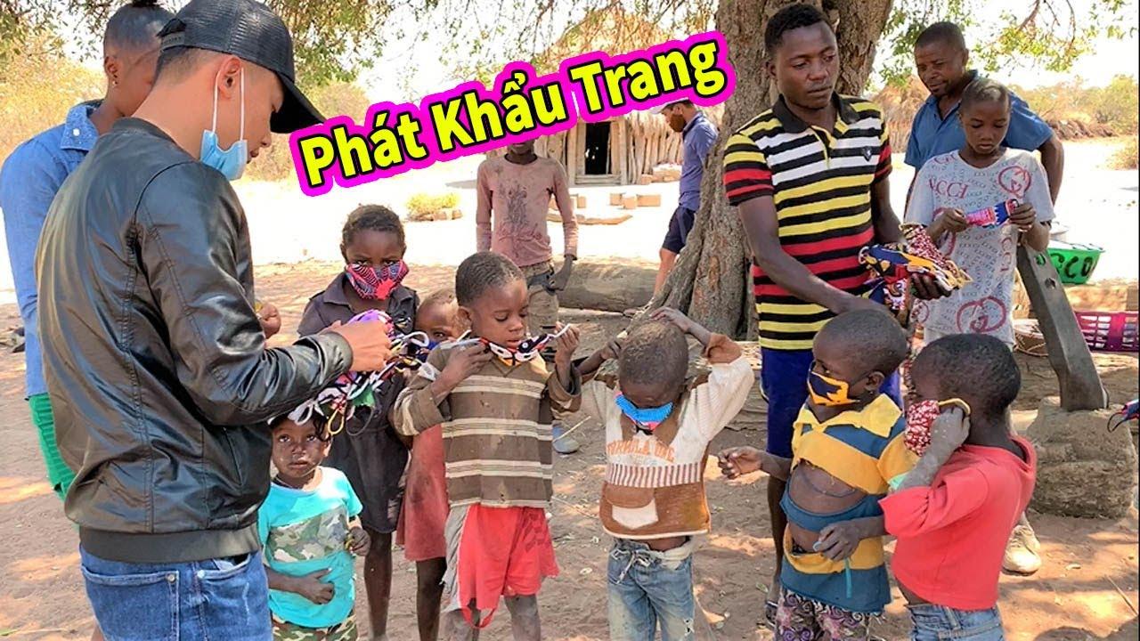 Quanglinhvlogs || Tặng Khẩu Trang Cho Người Dân Châu Phi Phòng Chống Dịch