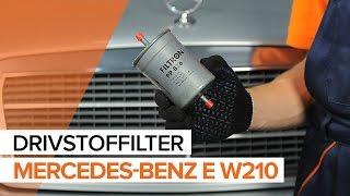 Montering Drivstoffilter diesel MERCEDES-BENZ E-CLASS (W210): gratis video