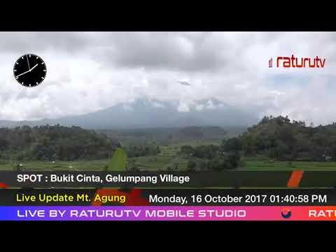 Bali Volcano : Mount Agung – Gunung Agung update real time. 16102017 - II