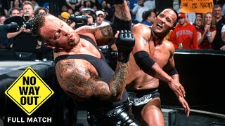FULL MATCH - The Rock vs. The Undertaker: WWE No Way Out 2002