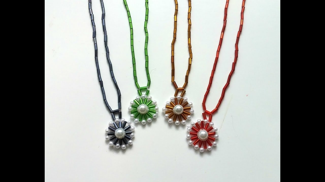 How to make a necklace with a pendant in less than 10 minutes how to make a necklace with a pendant in less than 10 minutes beaded jewelry tutorial aloadofball Image collections