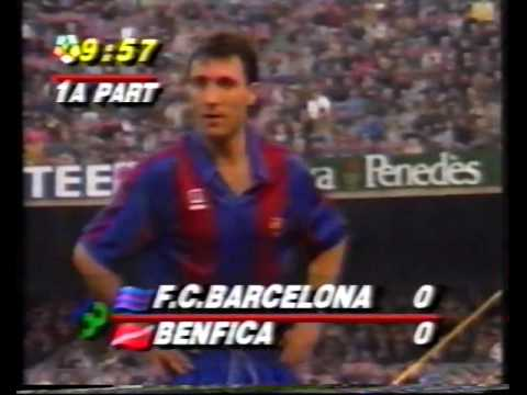 FC Barcelona vs SL Benfica - European Cup 1991-1992 Group Stage Matchday 6