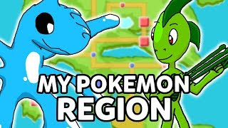 Over 150 Fake Pokémon, A Dark Type Gym, and MORE! My Fan Made Pokemon Region