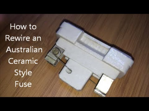 How To Rewire An Australian Ceramic Style Fuse Youtube