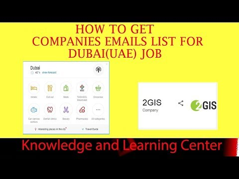How To Get Companies Emails List For Dubai UAE Job -UAE Companies List