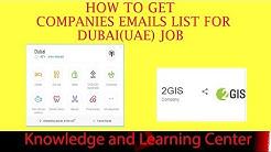 How to Get Companies emails list for Dubai UAE Job -UAE Companies list
