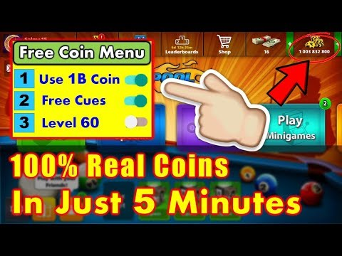 Free 1 Billion Coin In 8 Ball Pool (100% Real)