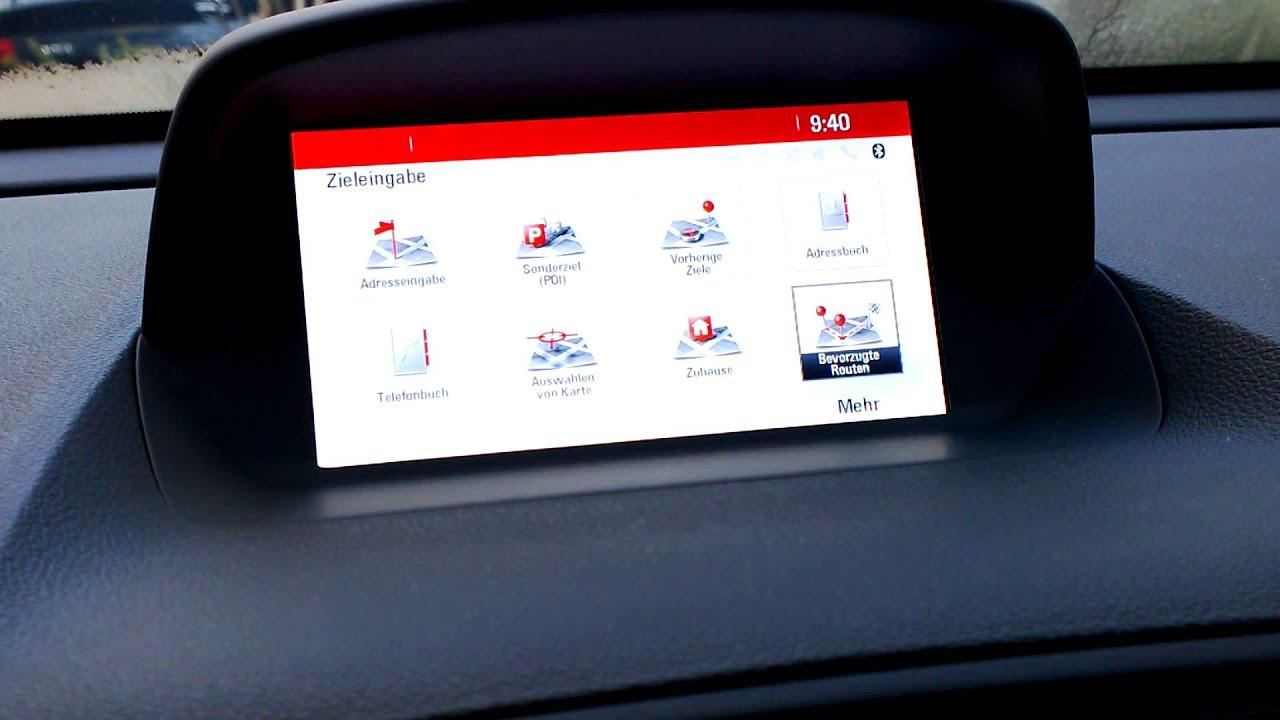 Opel Mokka Navi 950 Europa Intellilink Youtube