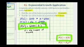Exponentielles Wachstum-App (y=ab^t) - Angesichts der Verdoppelung der Zeit
