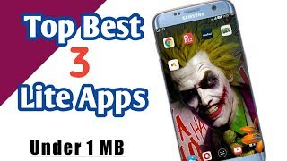 Top 3 Best Lite Applications In Android.. Under 1 MB.. | Play Tamil |