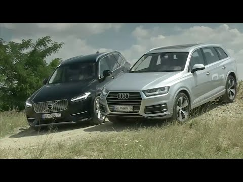 audi q7 vs volvo xc90 vs land rover discovery carbuyer funnydog tv. Black Bedroom Furniture Sets. Home Design Ideas
