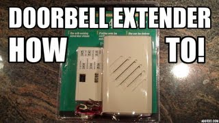 Repeat youtube video DIY: How to add a Doorbell Extender.