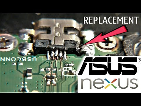 ASUS NEXUS 7 Change Micro USB Without Removing The Board / не снимая плату