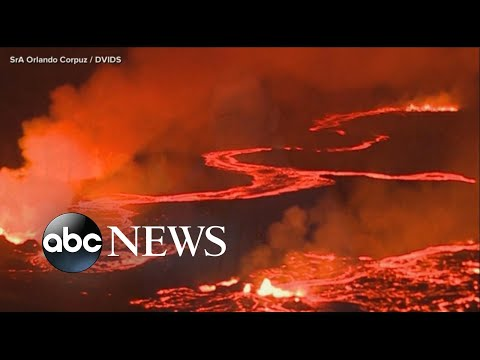 Lava spews from Hawaii volcano