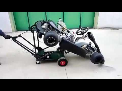 Black Electric Kart Stand