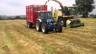 Silage 2013. Chopping with Krone Big X 500 and fords
