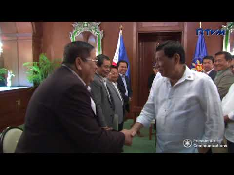 Meeting with the Moro Islamic Liberation Front and Bangsamoro Transition Commission 4/4/2018