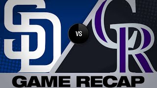 Padres plate 4 in 9th to shock Rox, 14-13 | Padres-Rockies Game Highlights 6/16/19