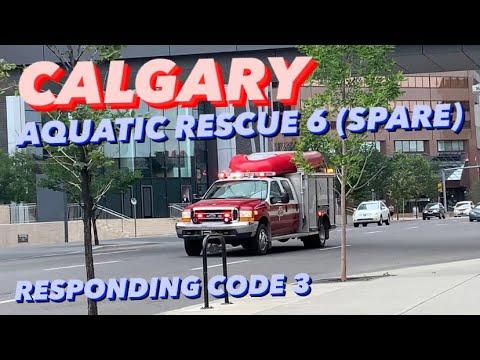 CFD / RARE | Calgary Aquatic Rescue 6 (Spare) Responding Code 3 + BULLHORN
