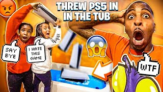 JAY SISTER'S THREW HIS PLAYSTATION 5 IN THE BATHTUB!💔 (HE CRIED)