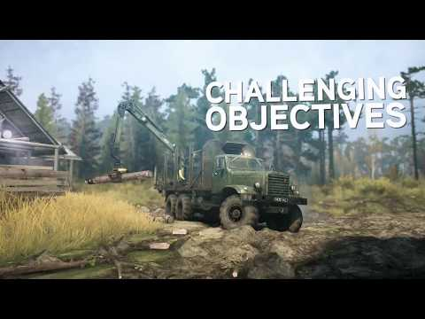 spintires mudrunner pc ps4 xbox one gameplay trailer. Black Bedroom Furniture Sets. Home Design Ideas