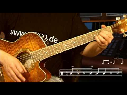 Rayco Gitarre - Satellite - Oslo - Tutorial zum ESC-Siegertitel 2010 (Akkorde der