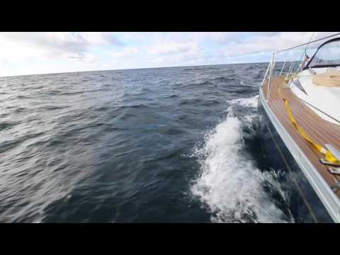 Sailing Across Biscay in a Yacht from UK to Portugal Via Spain HD