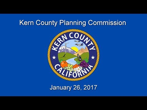 Kern County Planning Commission for January 26, 2017