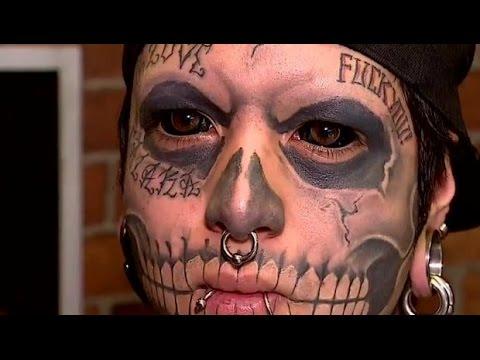 Joven chileno se tatuó los ojos para parecer calavera - CHV Noticias