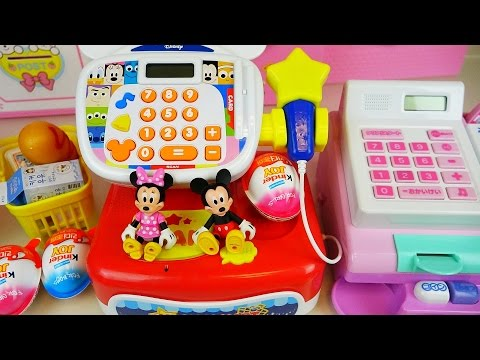 Thumbnail: Disney Mart cash register and baby doll with Kinder Joy eggs toys